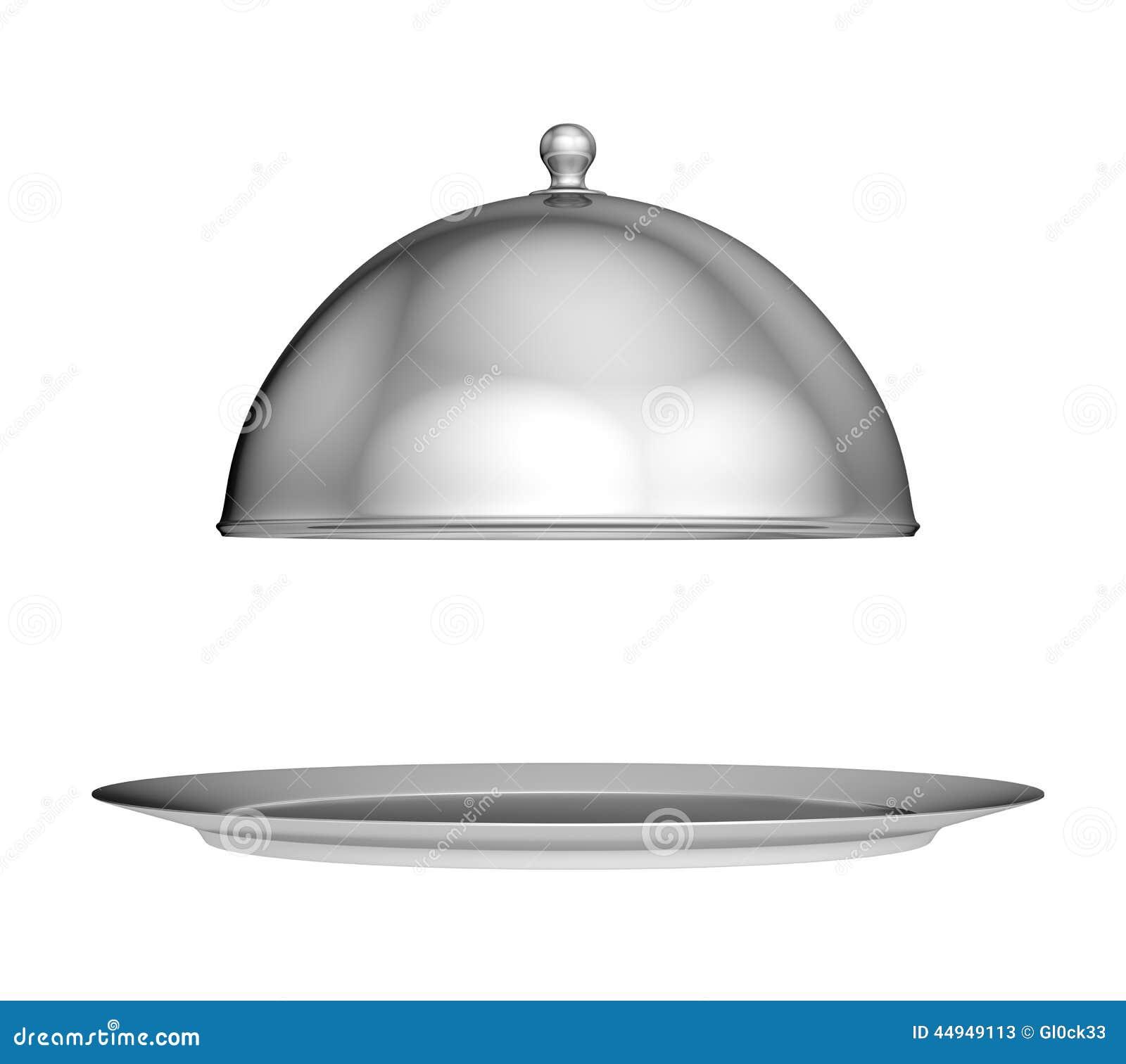 Cloche de restaurant avec le couvercle illustration stock - Cloche de cuisine ...