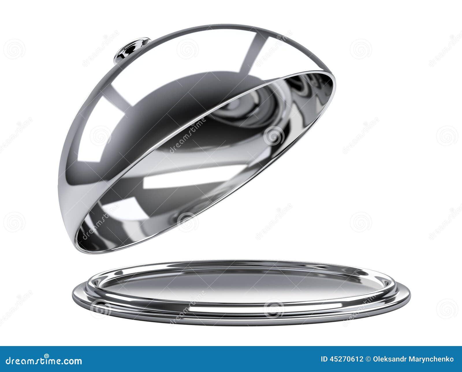 Cloche de restaurant avec le couvercle ouvert illustration - Cloche de cuisine ...