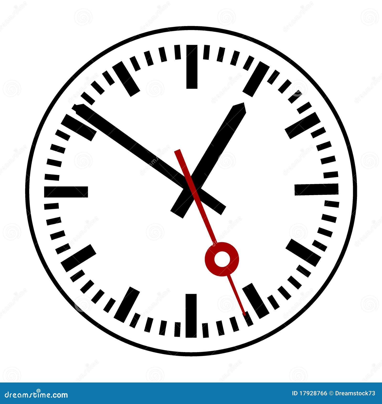 Clock Stock Vector  Illustration Of Look  Guard  Image