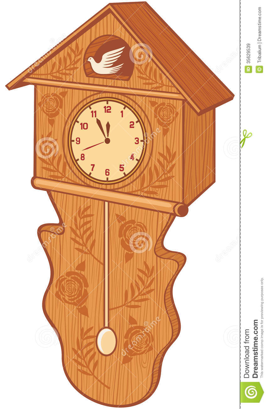 Clock Bird Royalty Free Stock Images Image 35629539