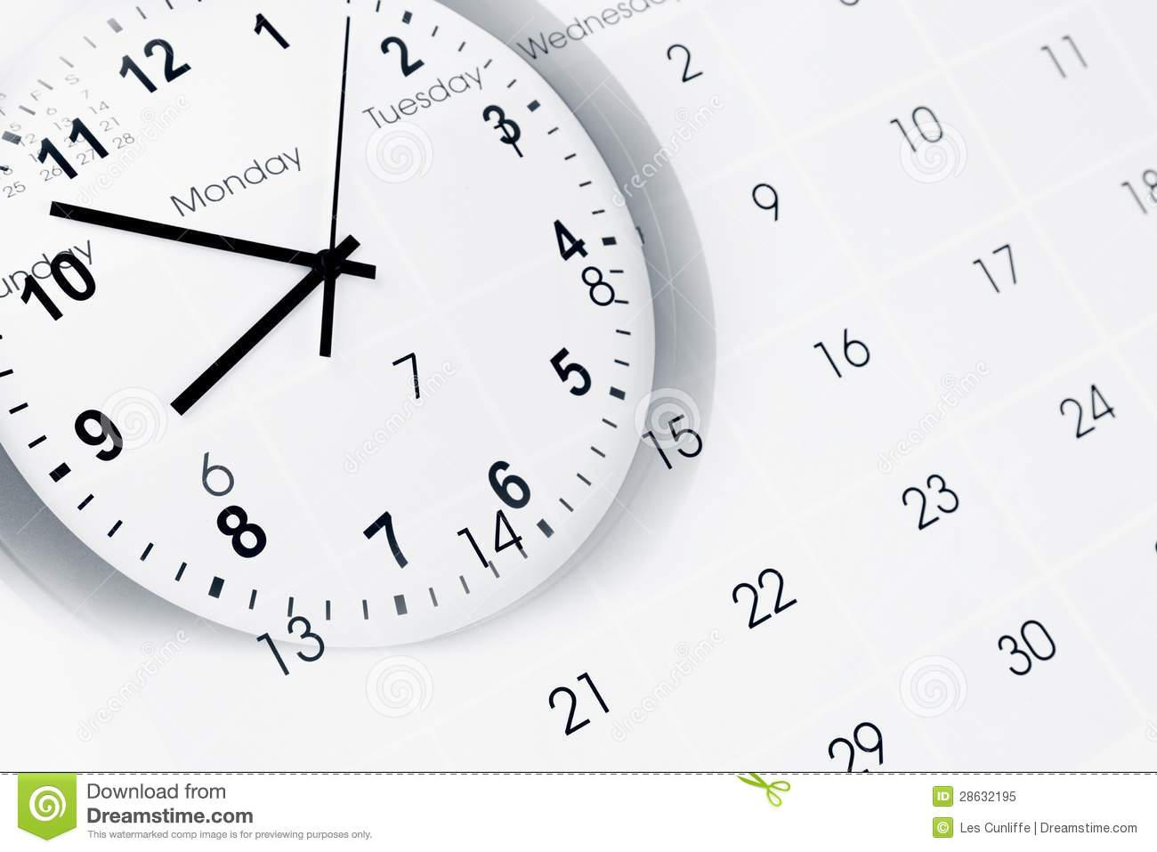 Calendar Wallpaper With Clock : Clock and calendar stock image of annual accurate