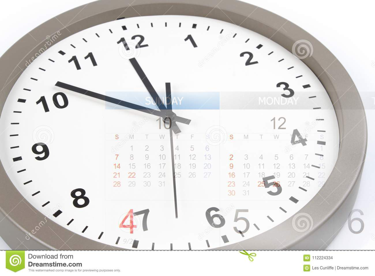Clock And Calendar Stock Photo Image Of Business Hour