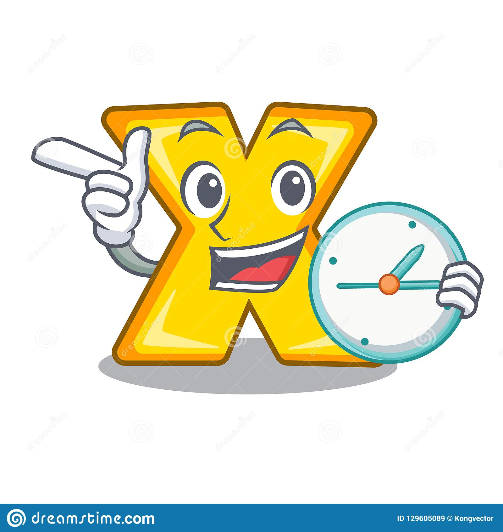 With Clock Cartoon Multiply Of A Delete Stock Vector Illustration