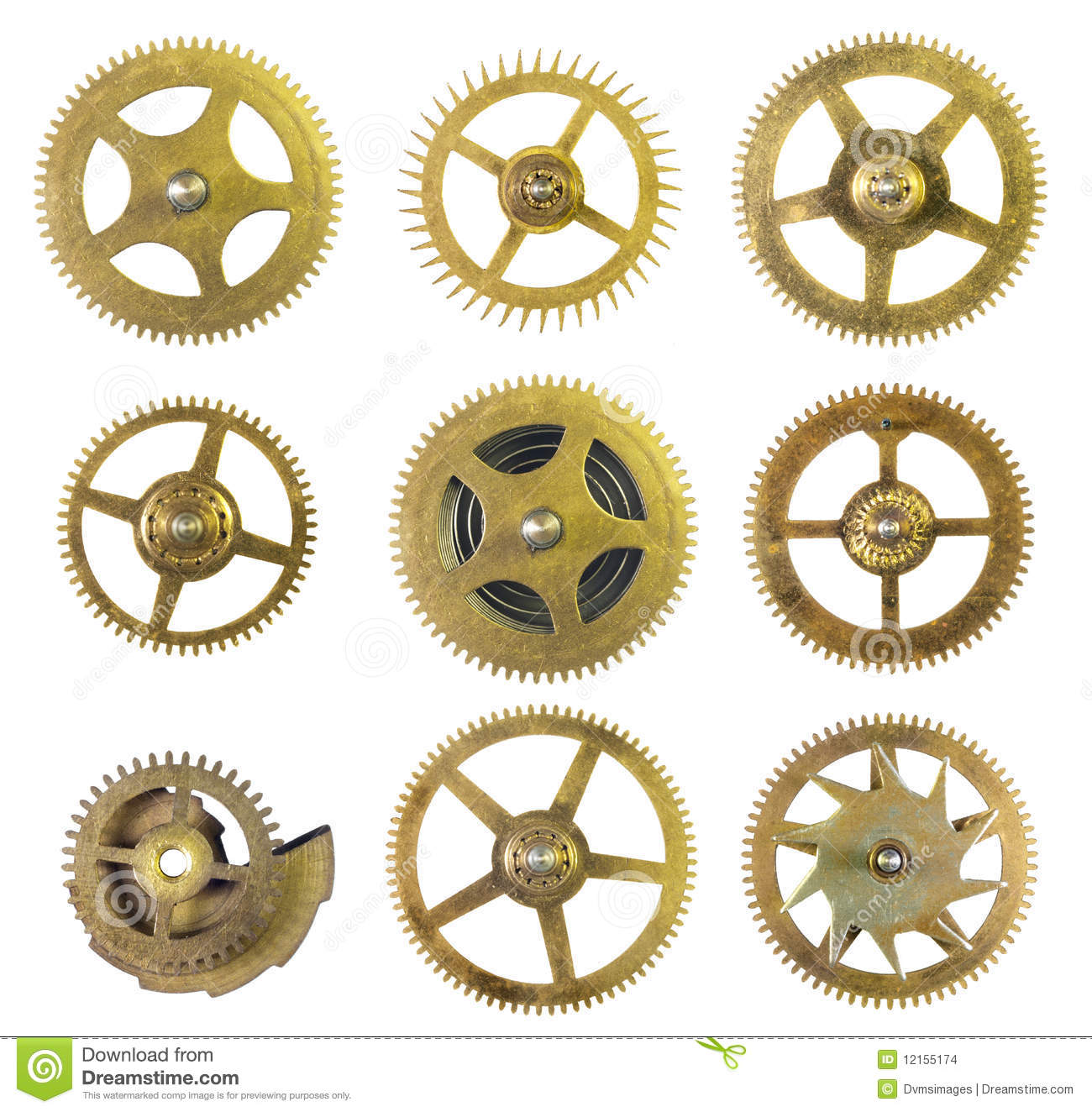 Clock Cogs Stock Images Image 12155174