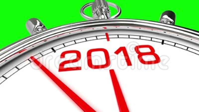 new year 2018 clock green screen stock video video of history finishing 106744899