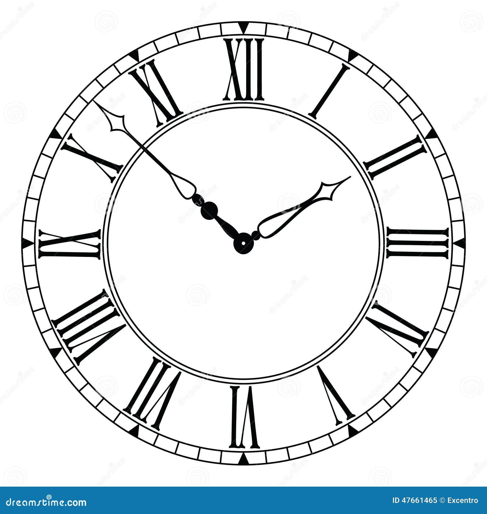 clock stock vector