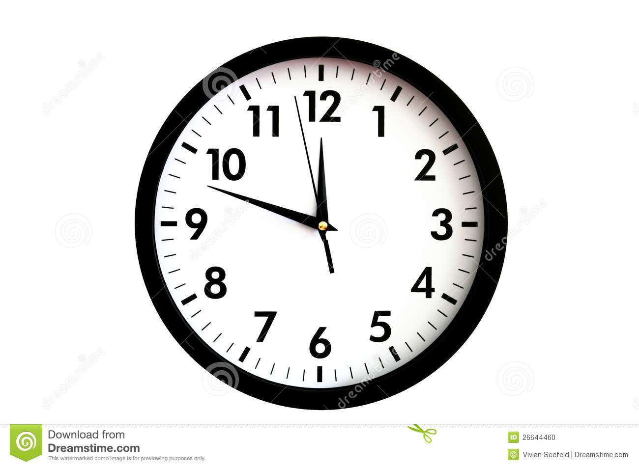 Clock face isolated on white background - time concept.
