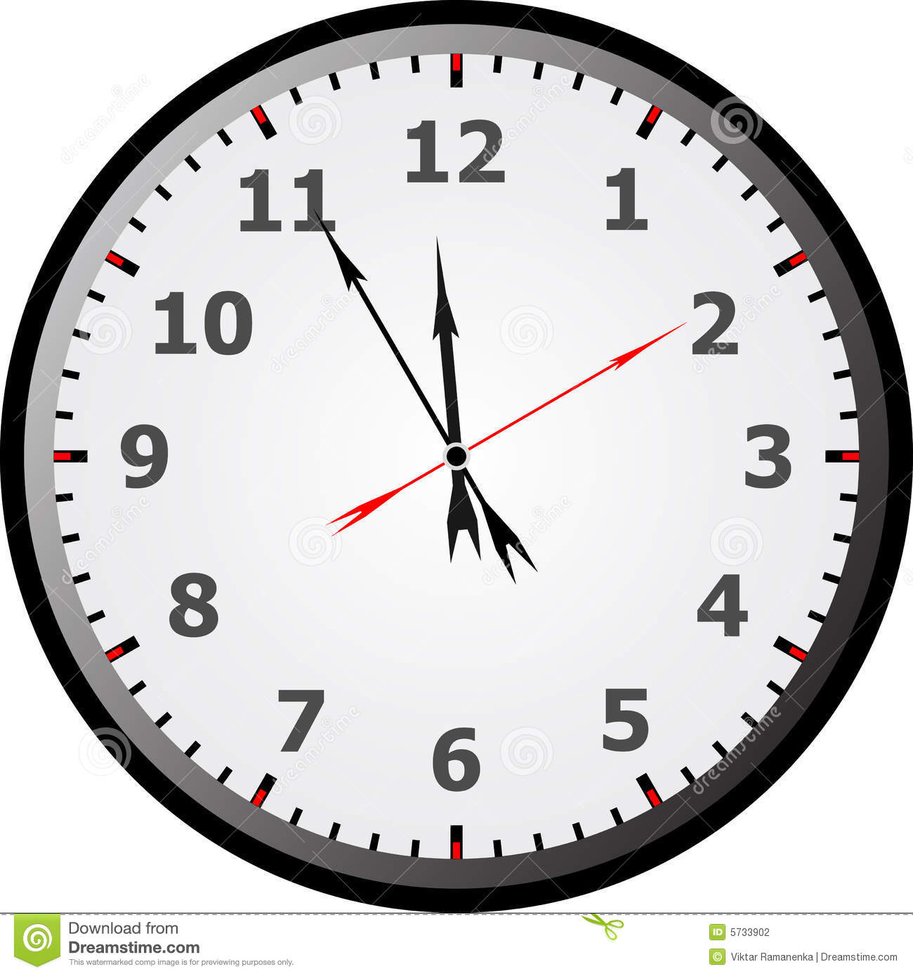 clock face stock vector. illustration of time, alarm, number - 5733902