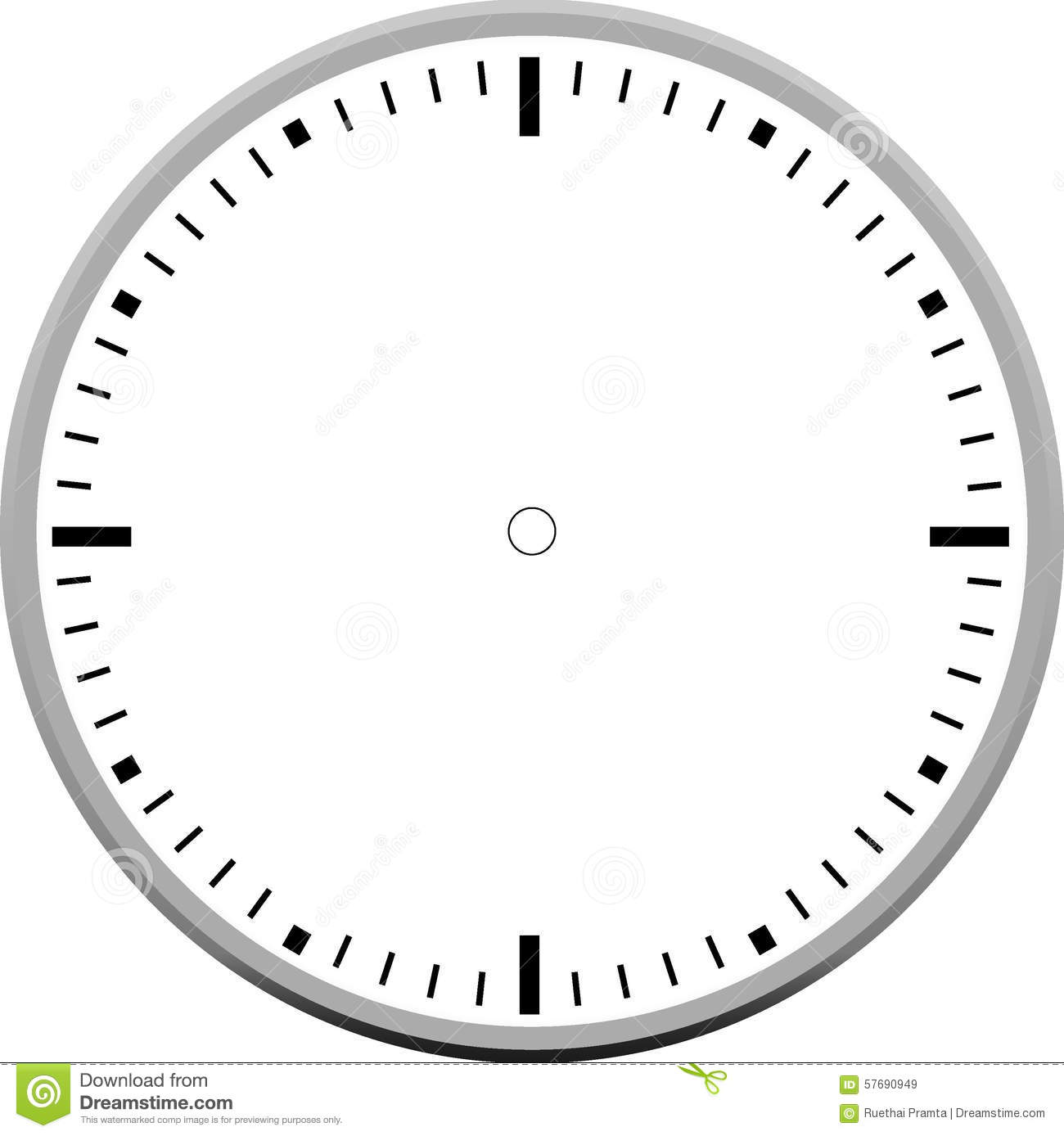 Stock Illustration Clock Face Blank Icon Design Creative Image57690949 on Clock Face Printable