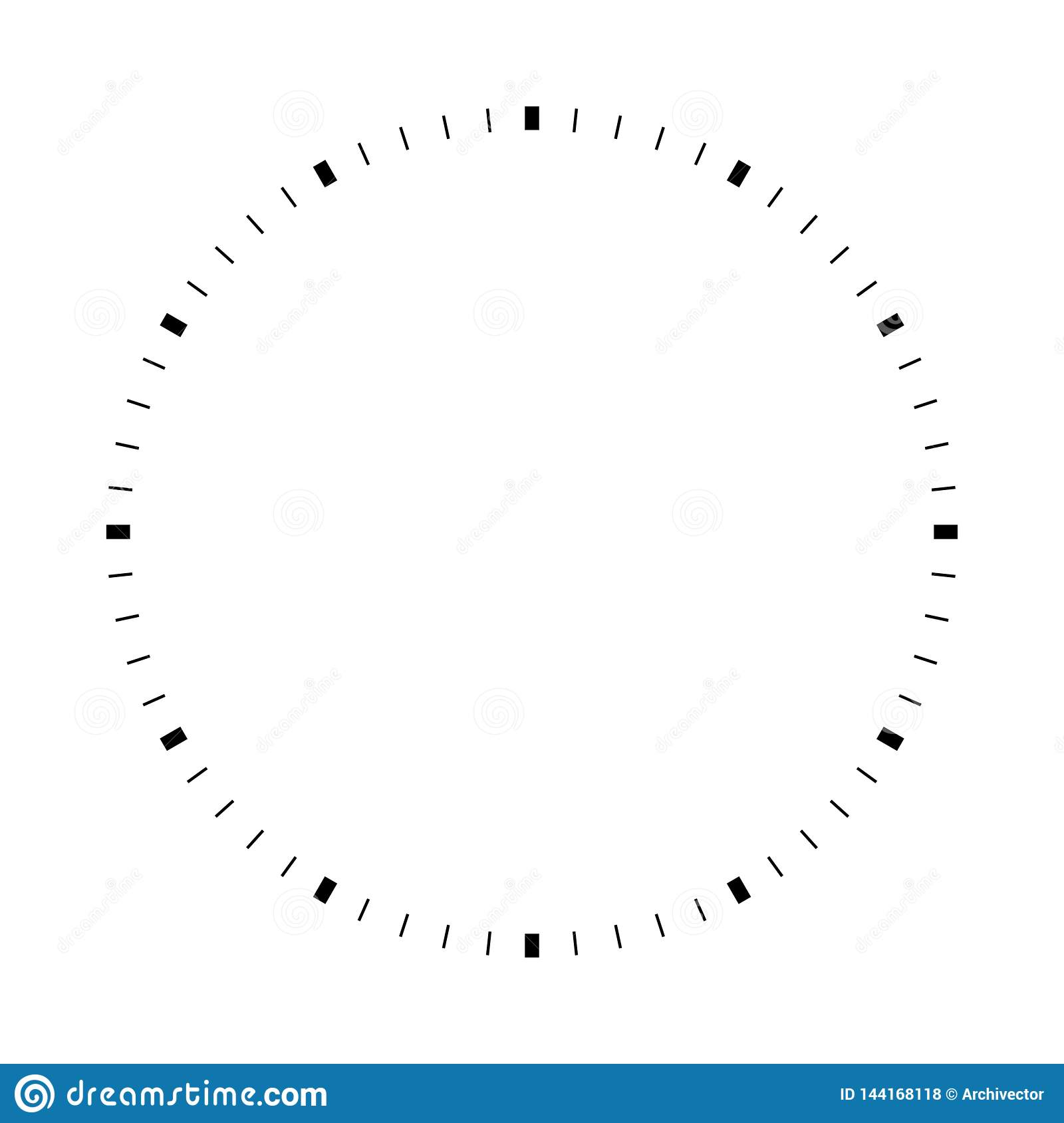 Blank white round dial stock vector  Illustration of flat