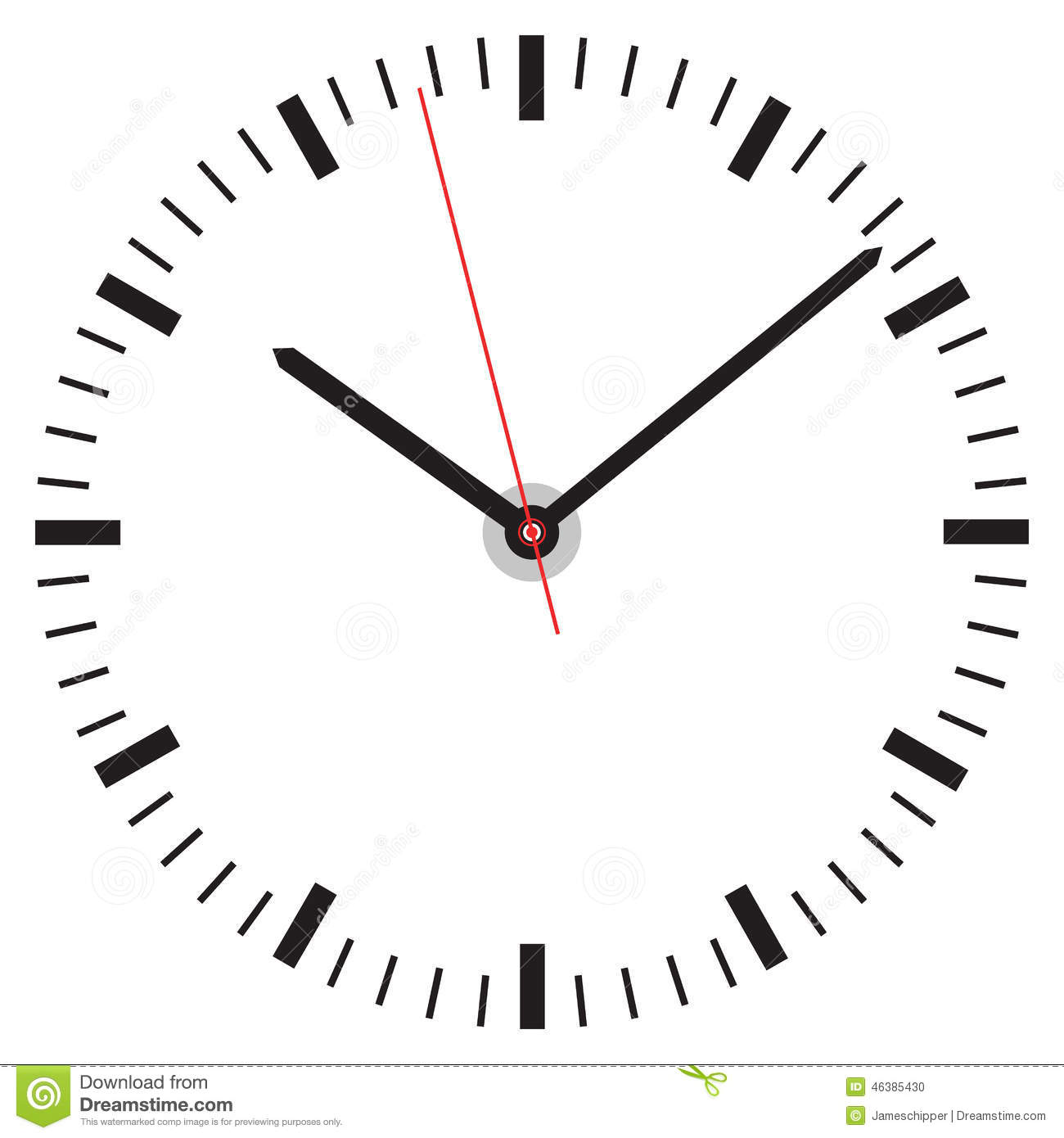 worksheet Clock Face clock face stock vector image 46385430 face