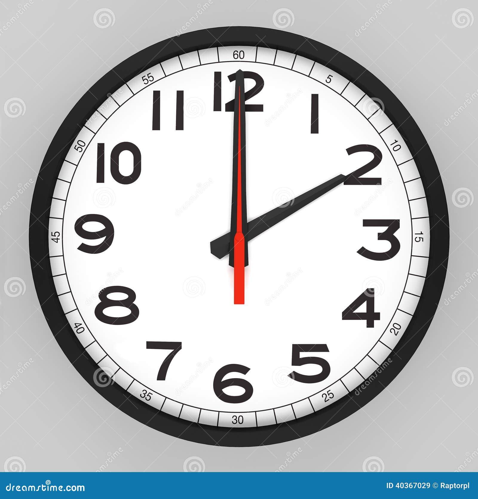 Clock Face 2 O'clock Stock Illustration - Image: 40367029