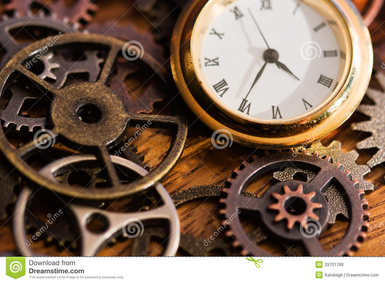 Clock And Old Gears Royalty Free Stock Photos - Image ...