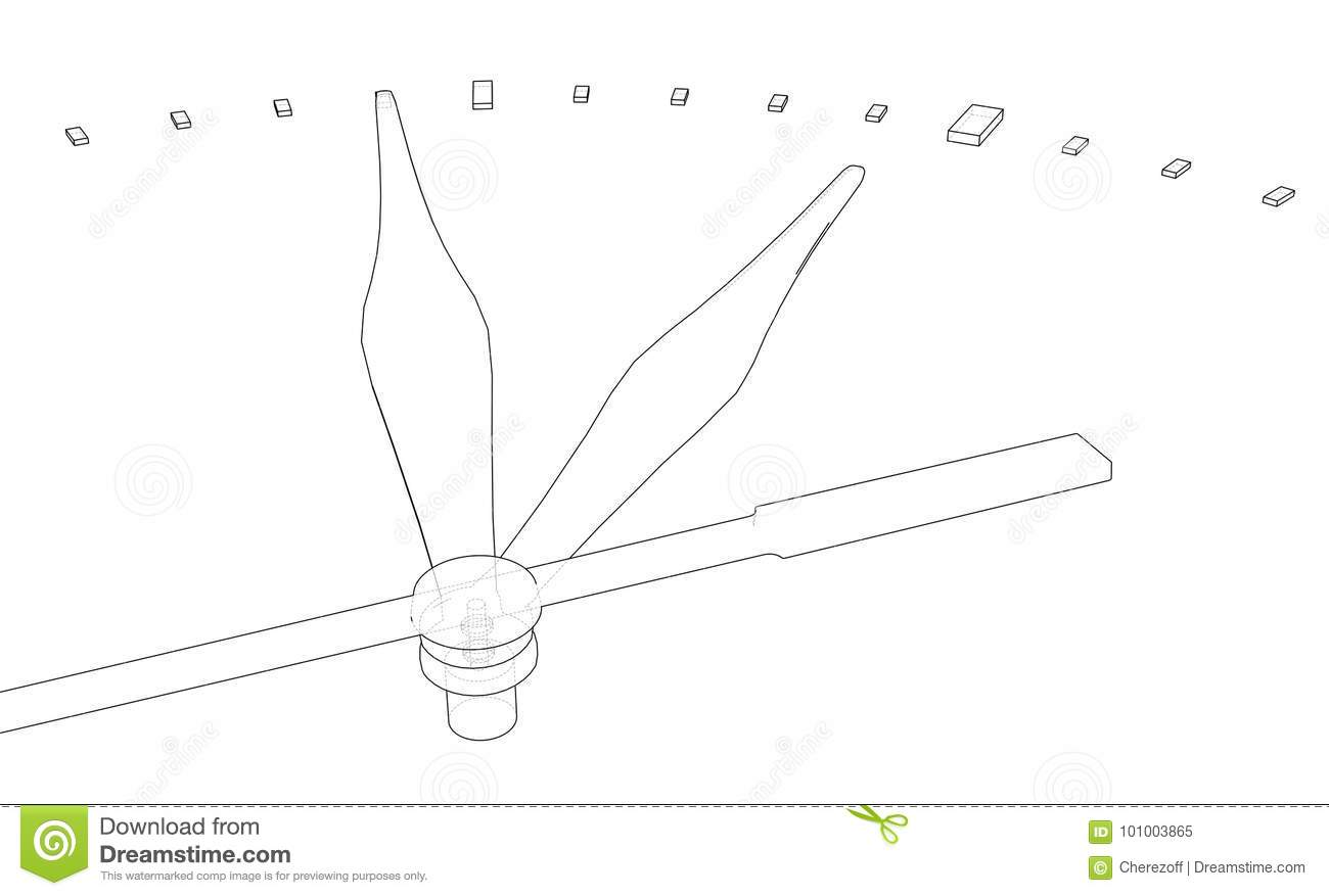 Clock Face. Perspective View. Vector Stock Vector - Illustration of ...