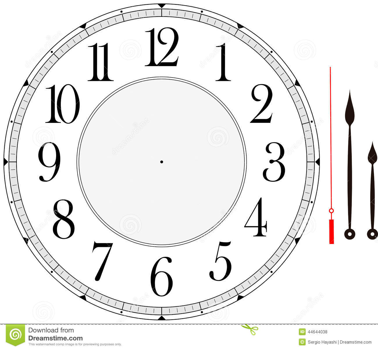 image regarding Printable Clock Face With Hands known as Clock confront inventory vector. Example of vector, hour - 44644038