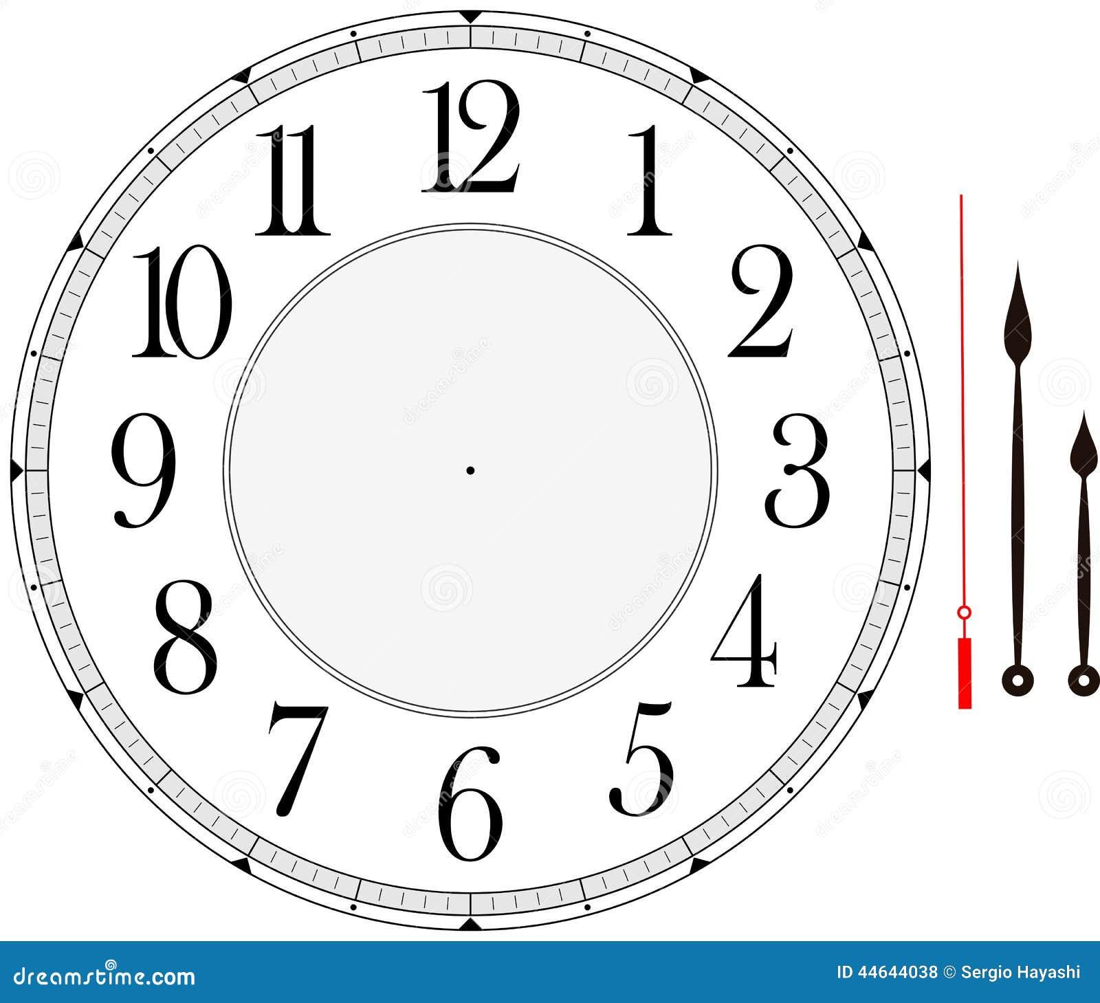 Clock Face Stock Vector - Image: 44644038
