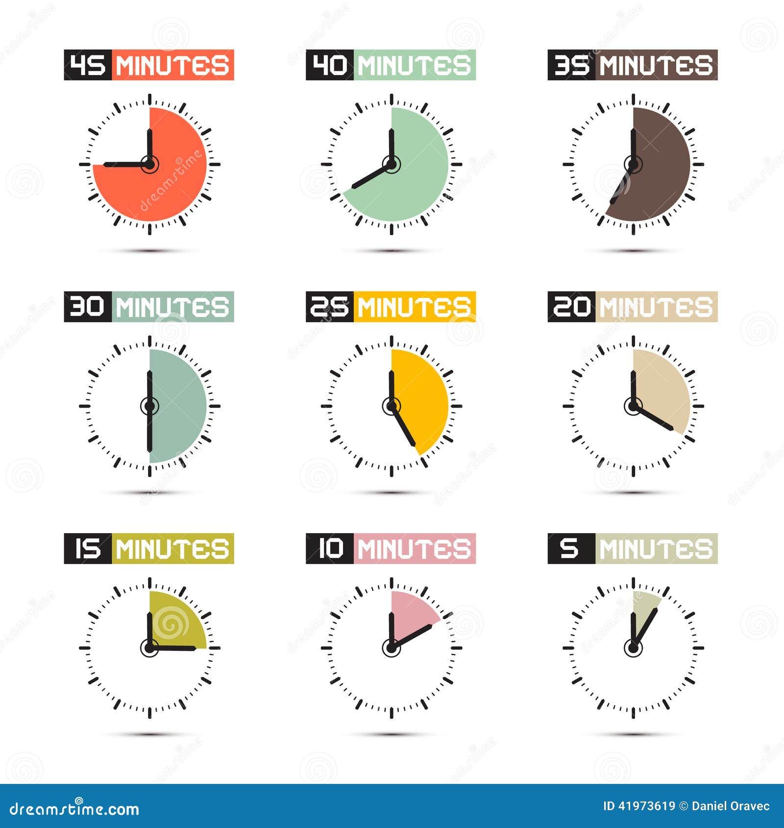 Clock Face Vector Illustration Set