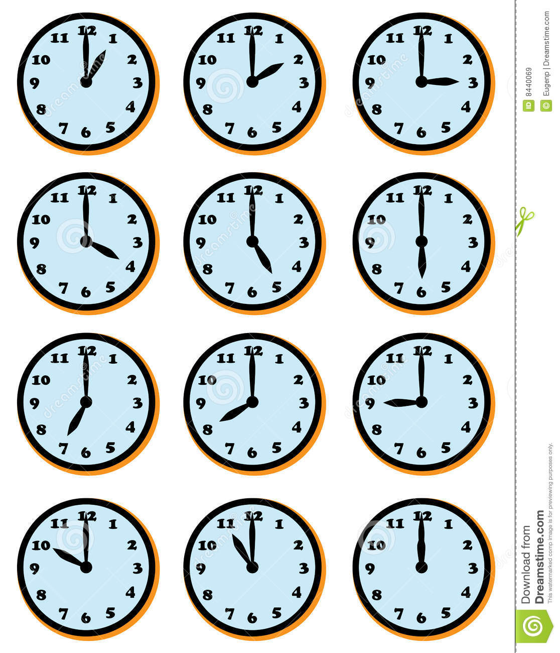 Clock Faces Royalty Free Stock Images - Image: 8440069