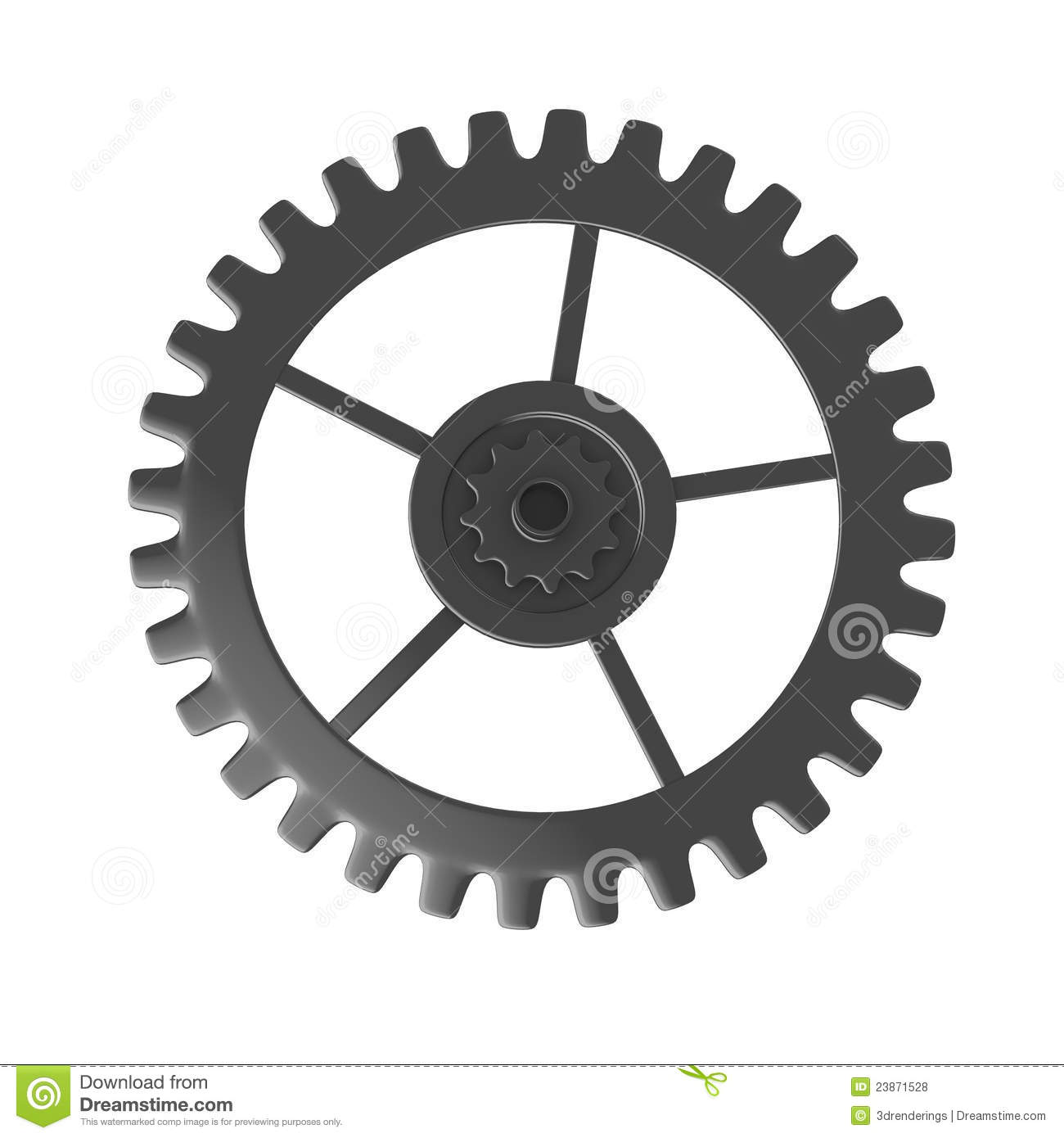 Clock gear wheel