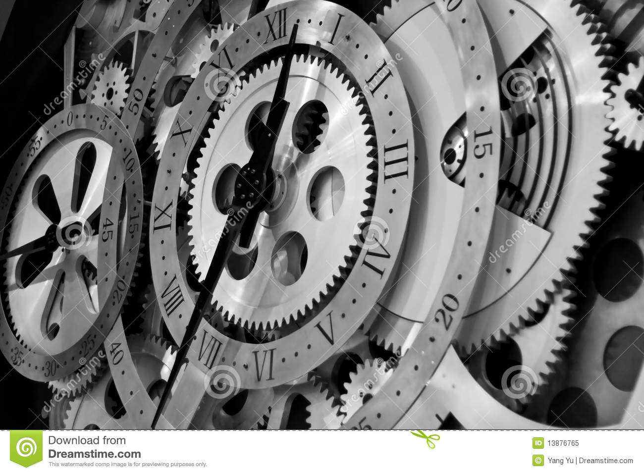 Clock And Gears Stock Image  Image Of Part  Mechanism