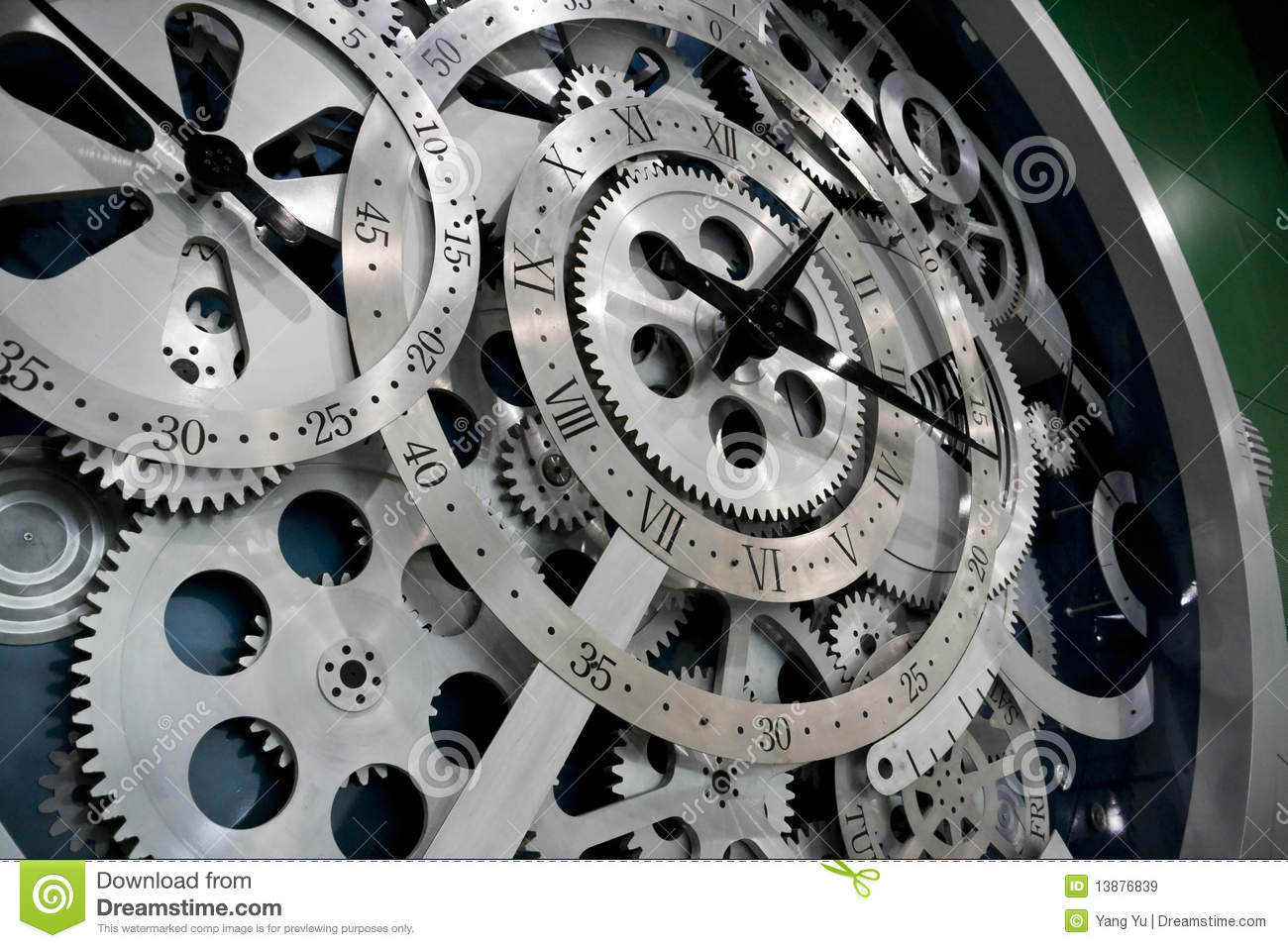 Clock And Gears Royalty Free Stock Images Image 13876839