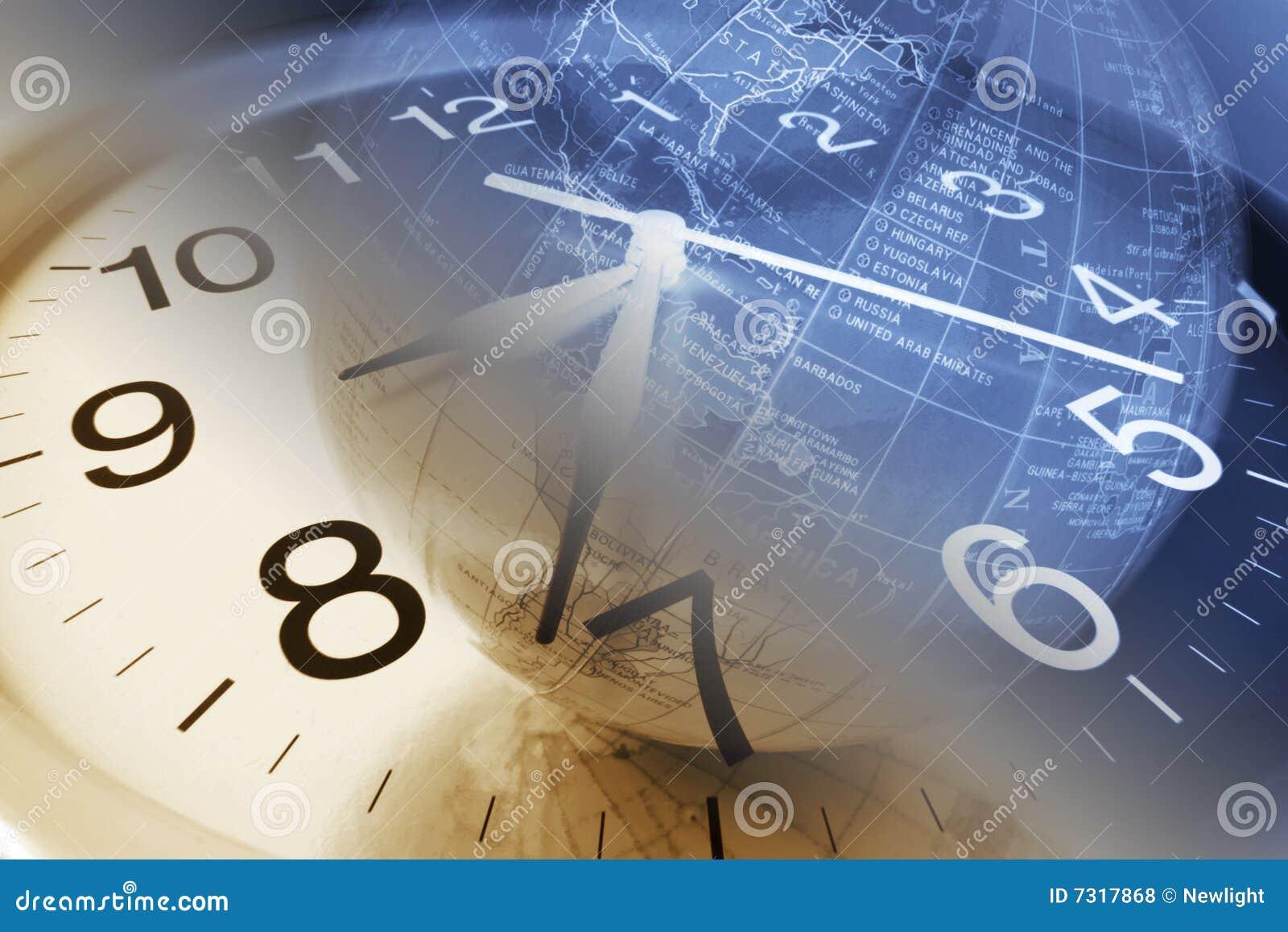 Clock and Globe