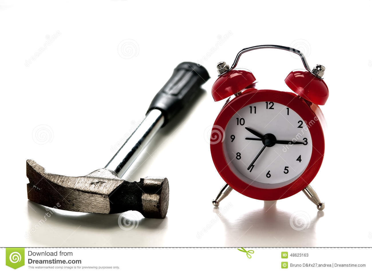 Clock and and hammer