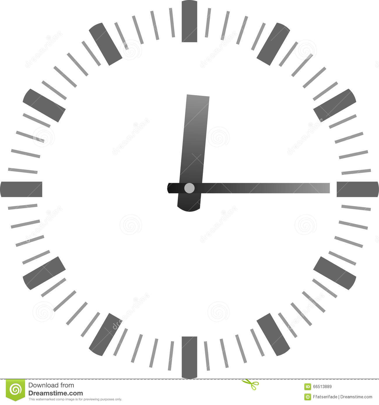 Clock With Hands Stock Image Image Of Late Template 66513889