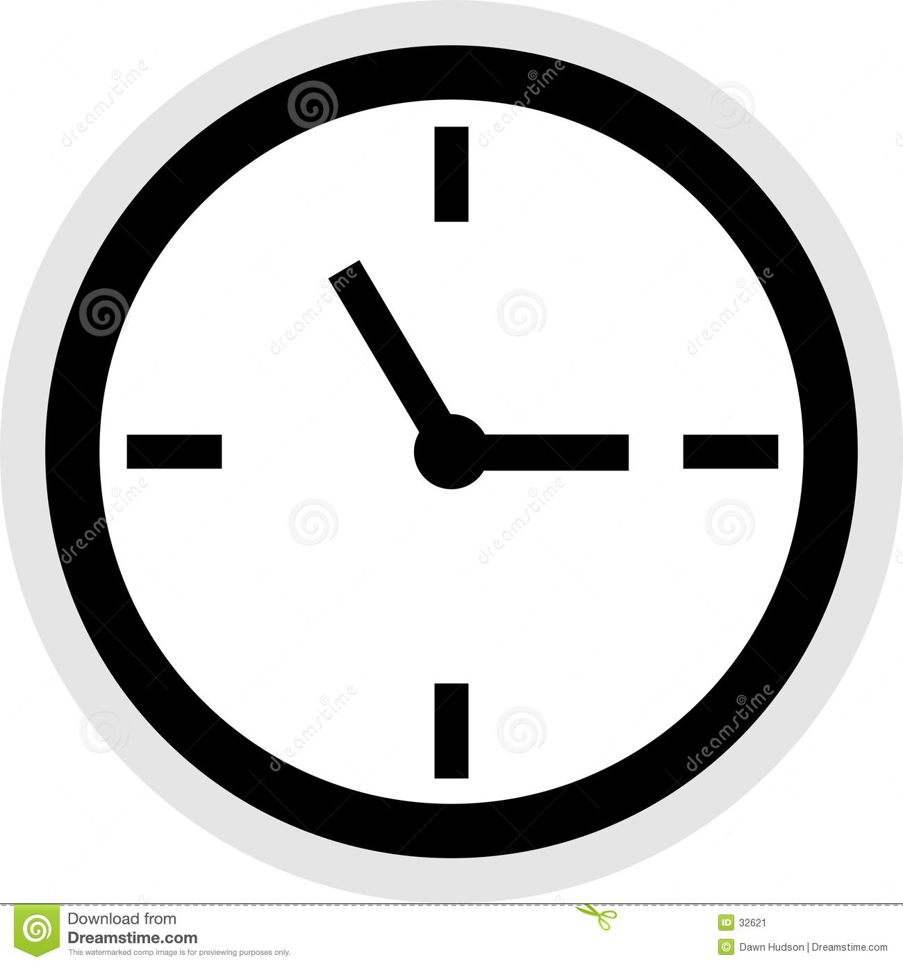 clock icon stock vector illustration of time clock household 32621