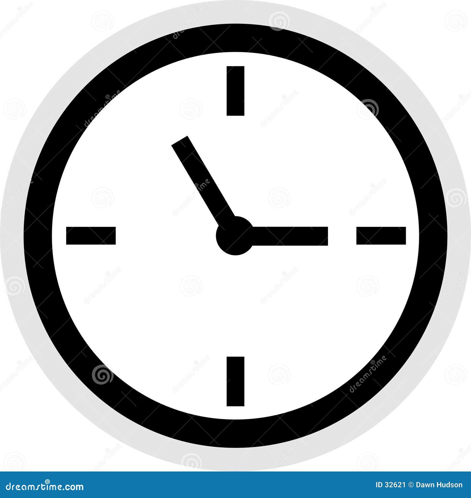 Clock Icon Stock Image Image 32621