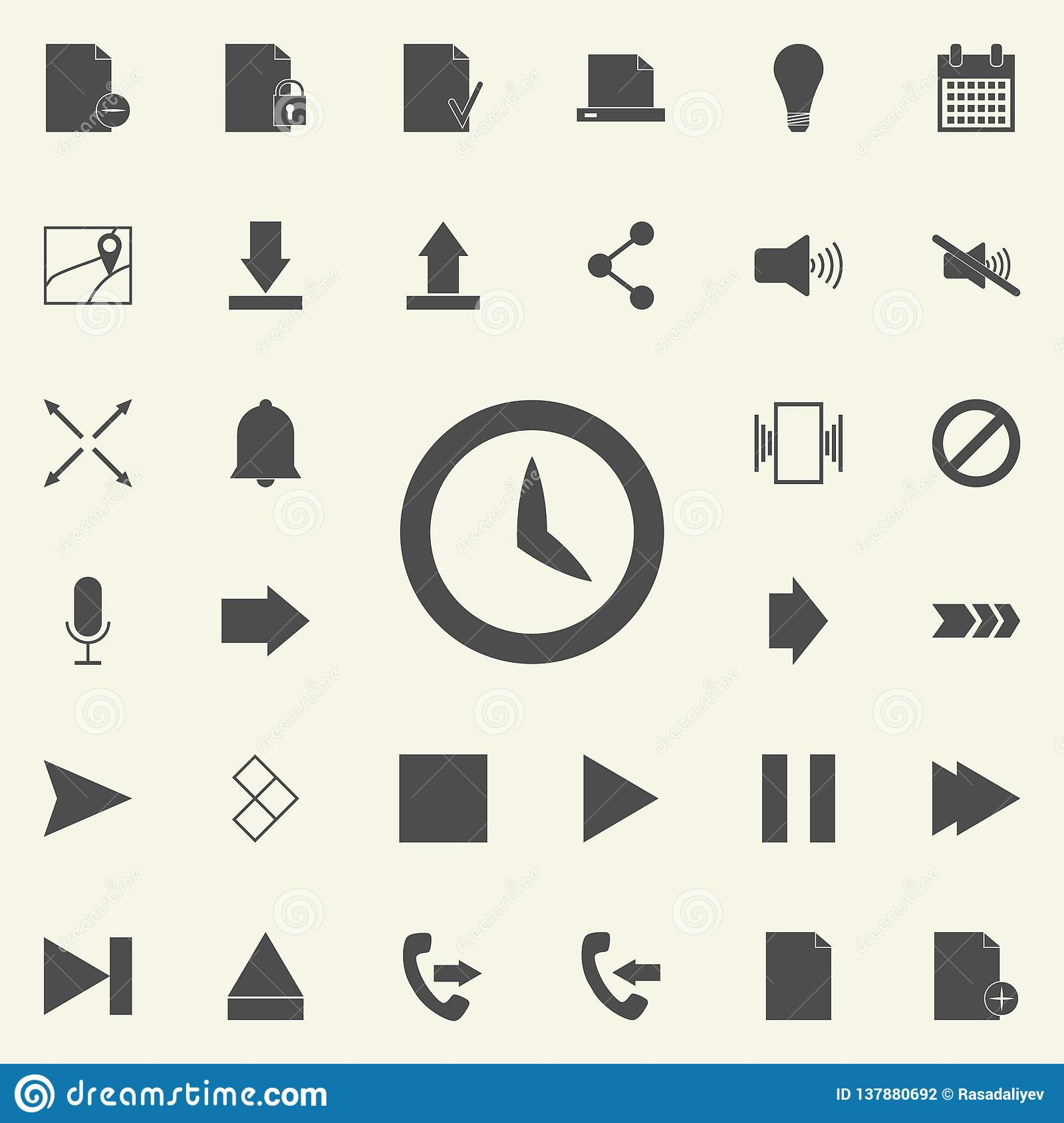 clock icon. web icons universal set for web and mobile