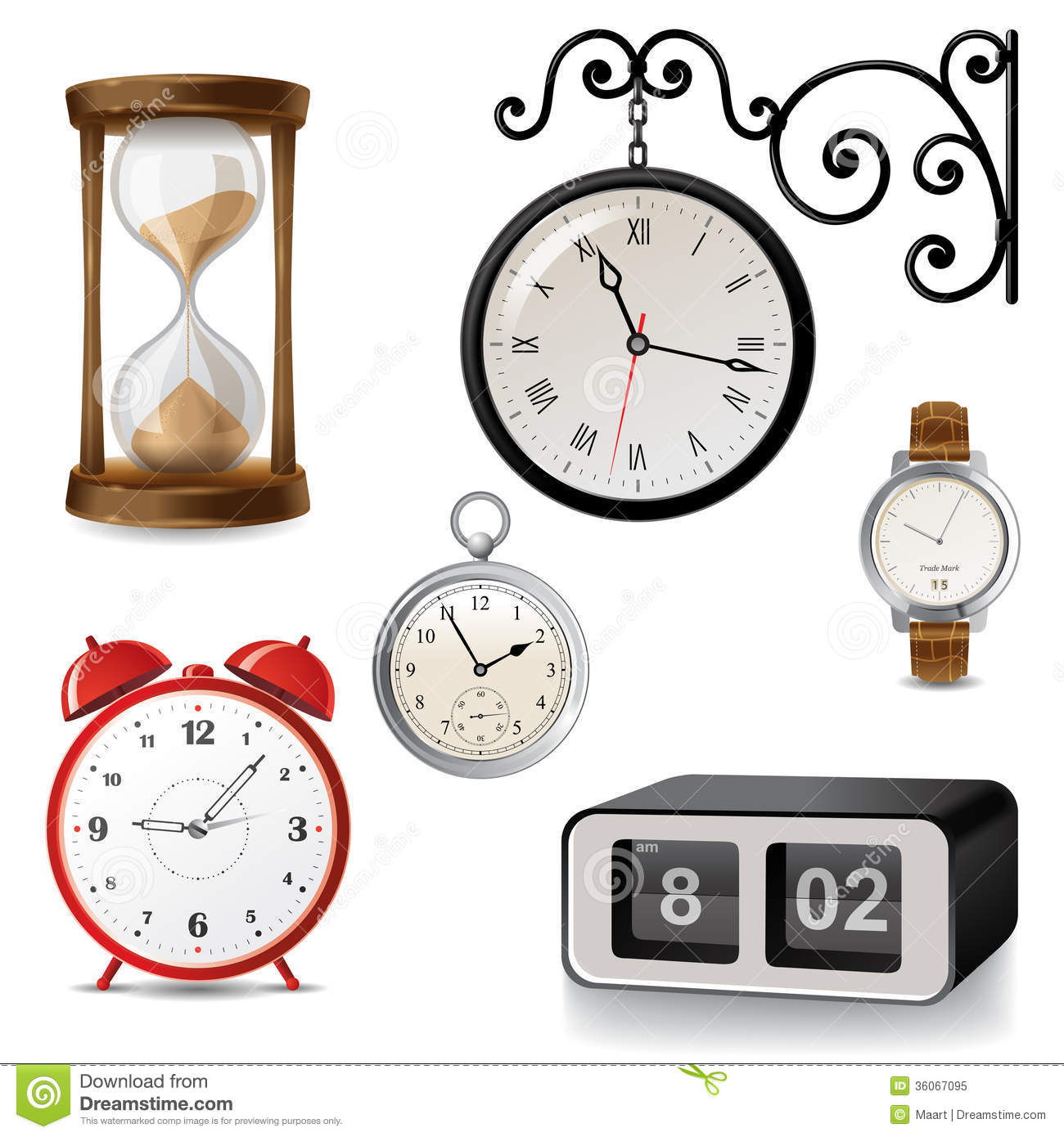 Clock Icons Stock Vector Illustration Of Glass Equipment