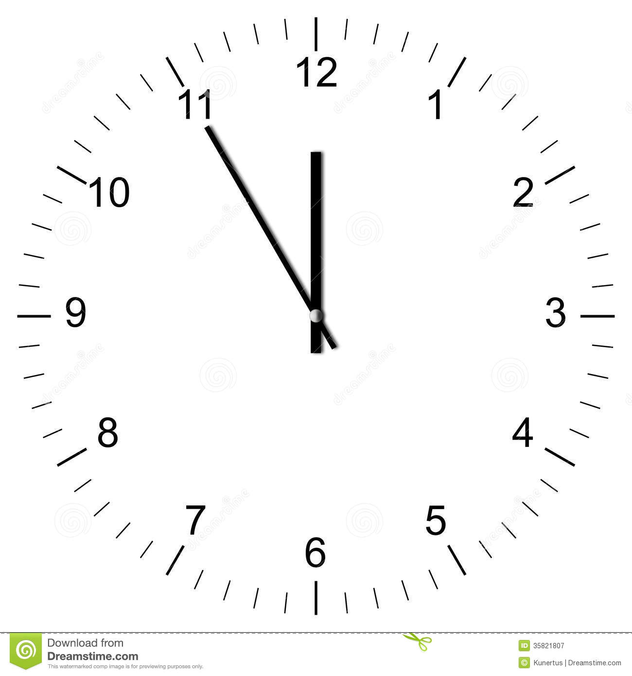 Clipart Two O'clock