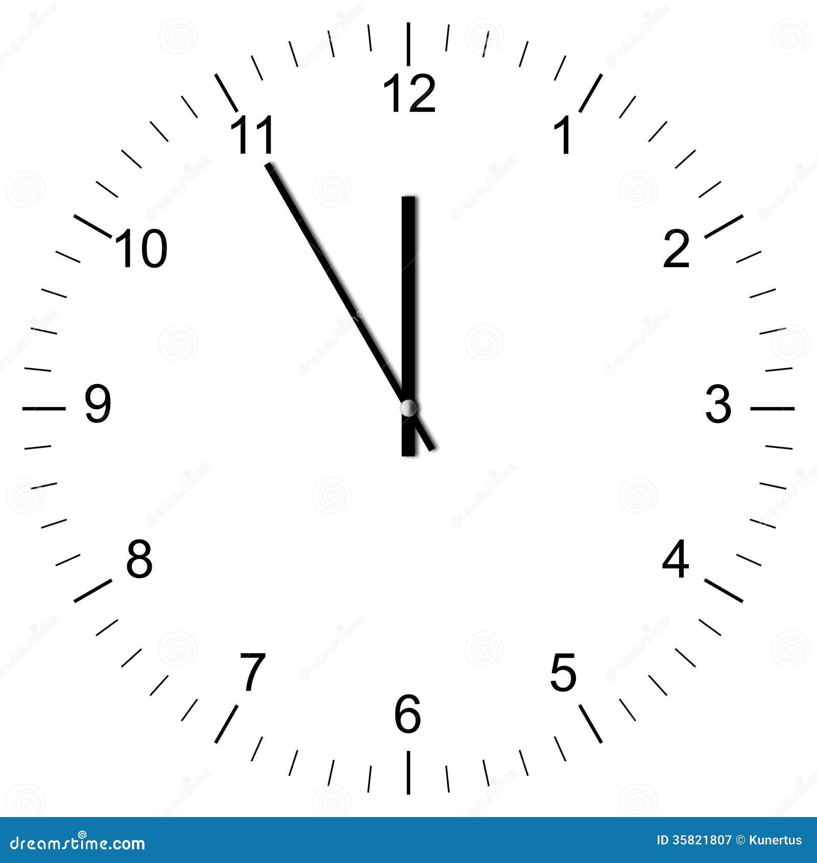 clock illustration 11 00 royalty free stock photography