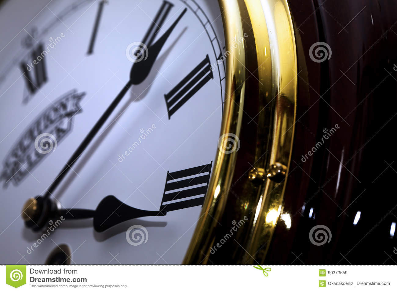 Download Clock Macro Detailed stock image. Image of deadline, closeup - 90373659