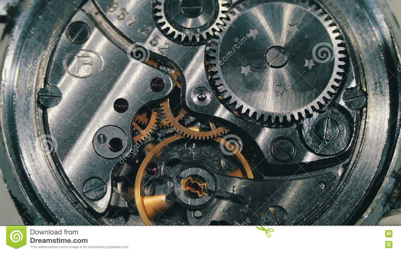 Clock Mechanism Works stock video  Video of concepts - 71365035