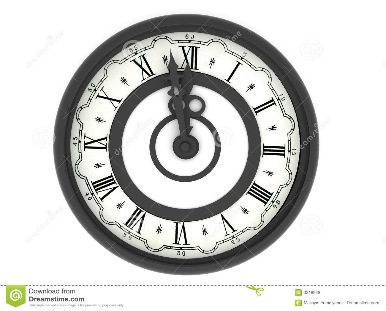 clock midnight royalty free stock photos image 3218948. Black Bedroom Furniture Sets. Home Design Ideas