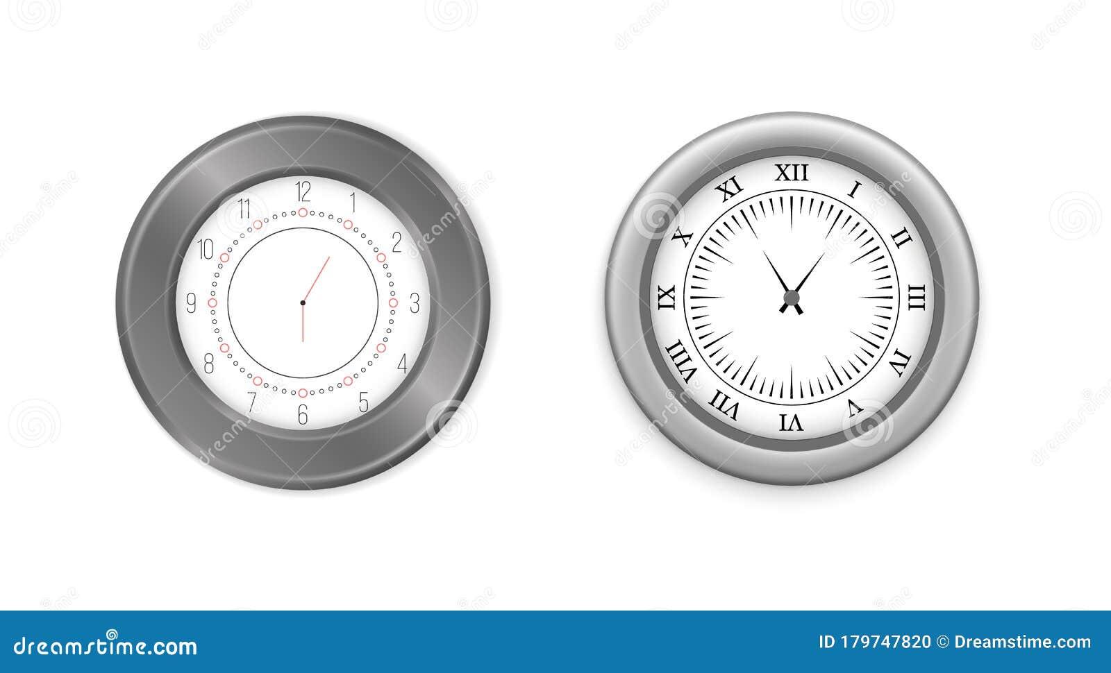 Modern Round Clocks Stock Vector Illustration Of Hand 179747820