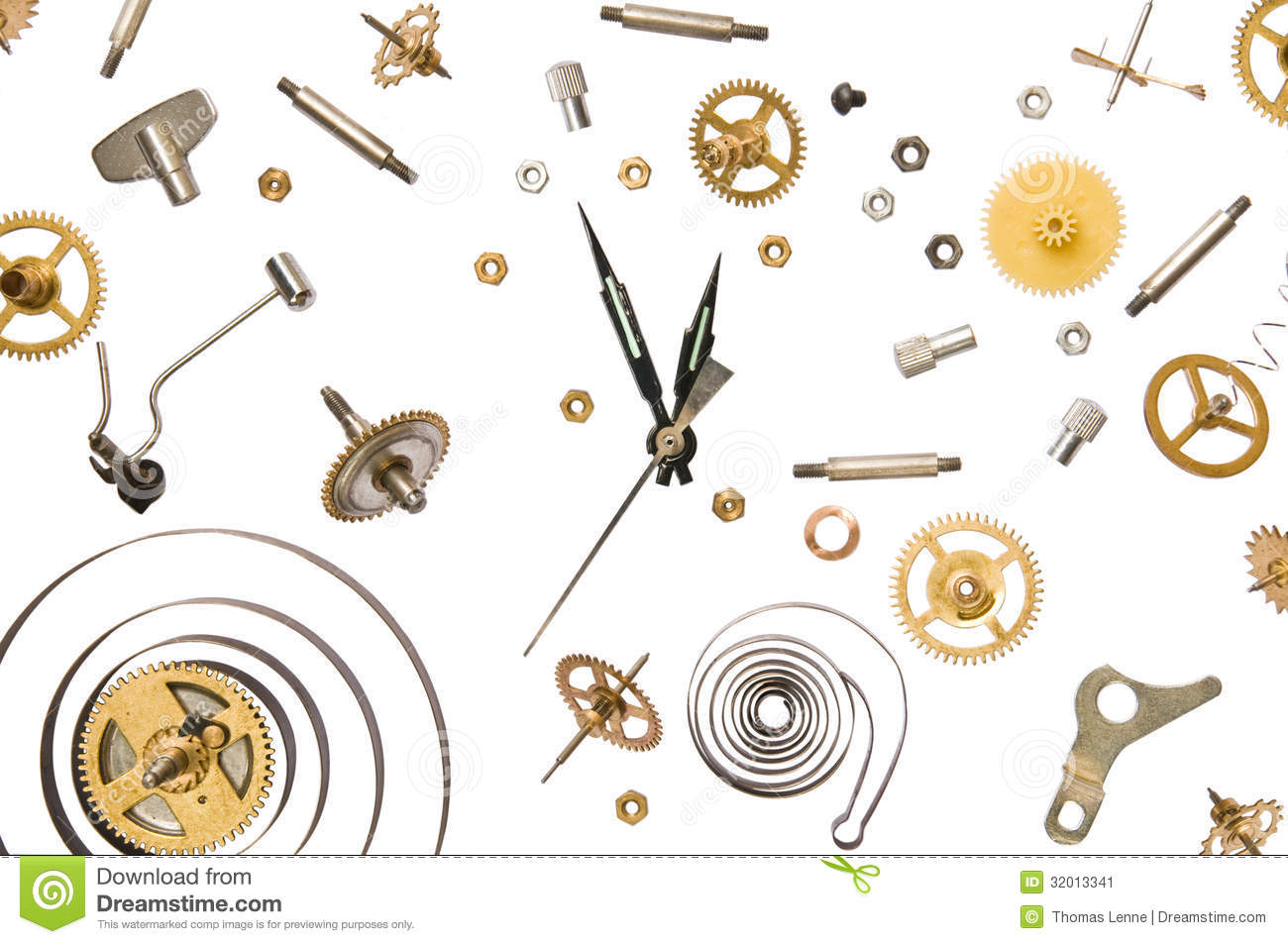 Worksheets Parts Of A Clock clock parts stock image 32013341 parts