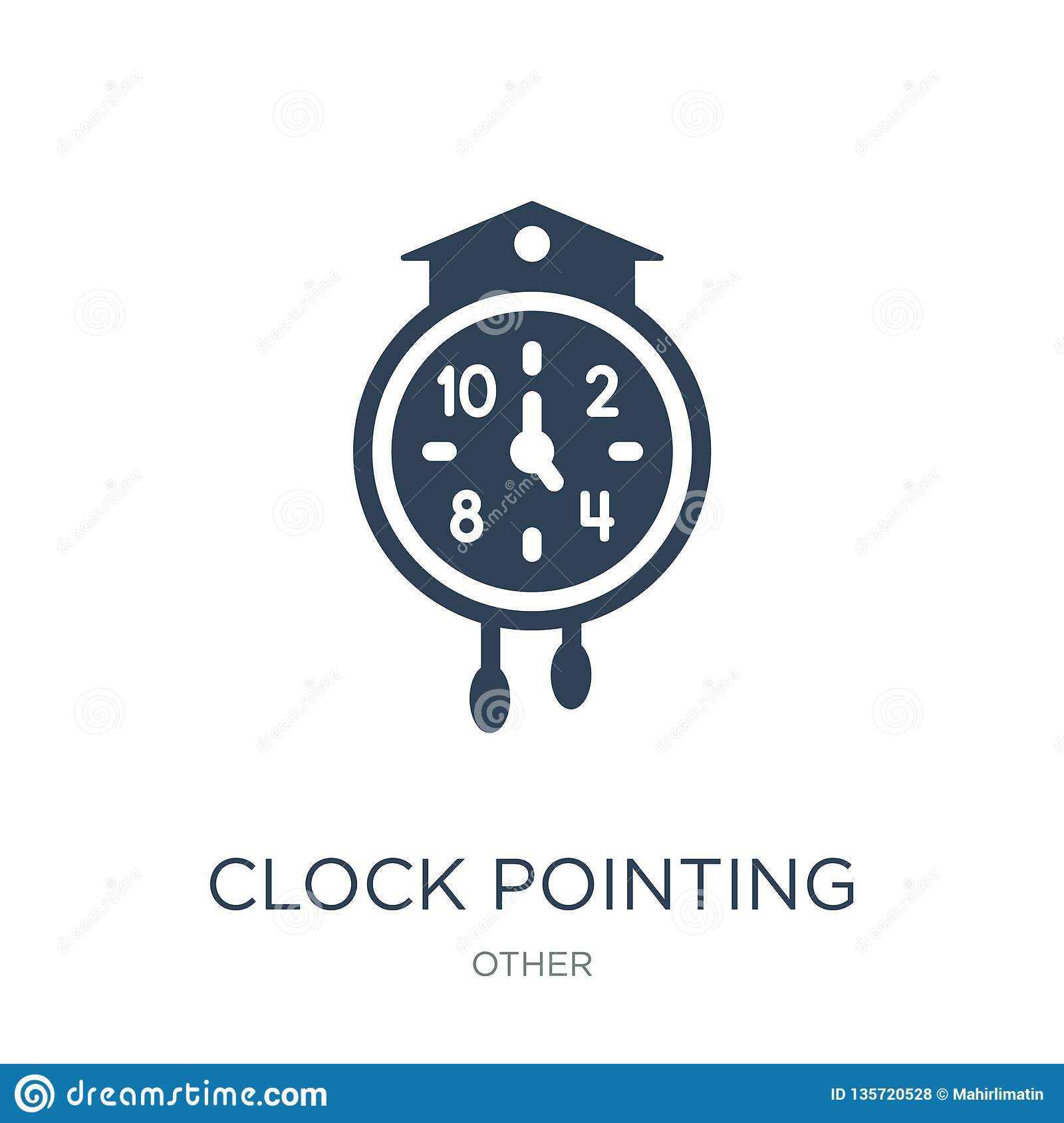 clock pointing four o  clock icon in trendy design style. clock pointing four o  clock icon isolated on white background. clock