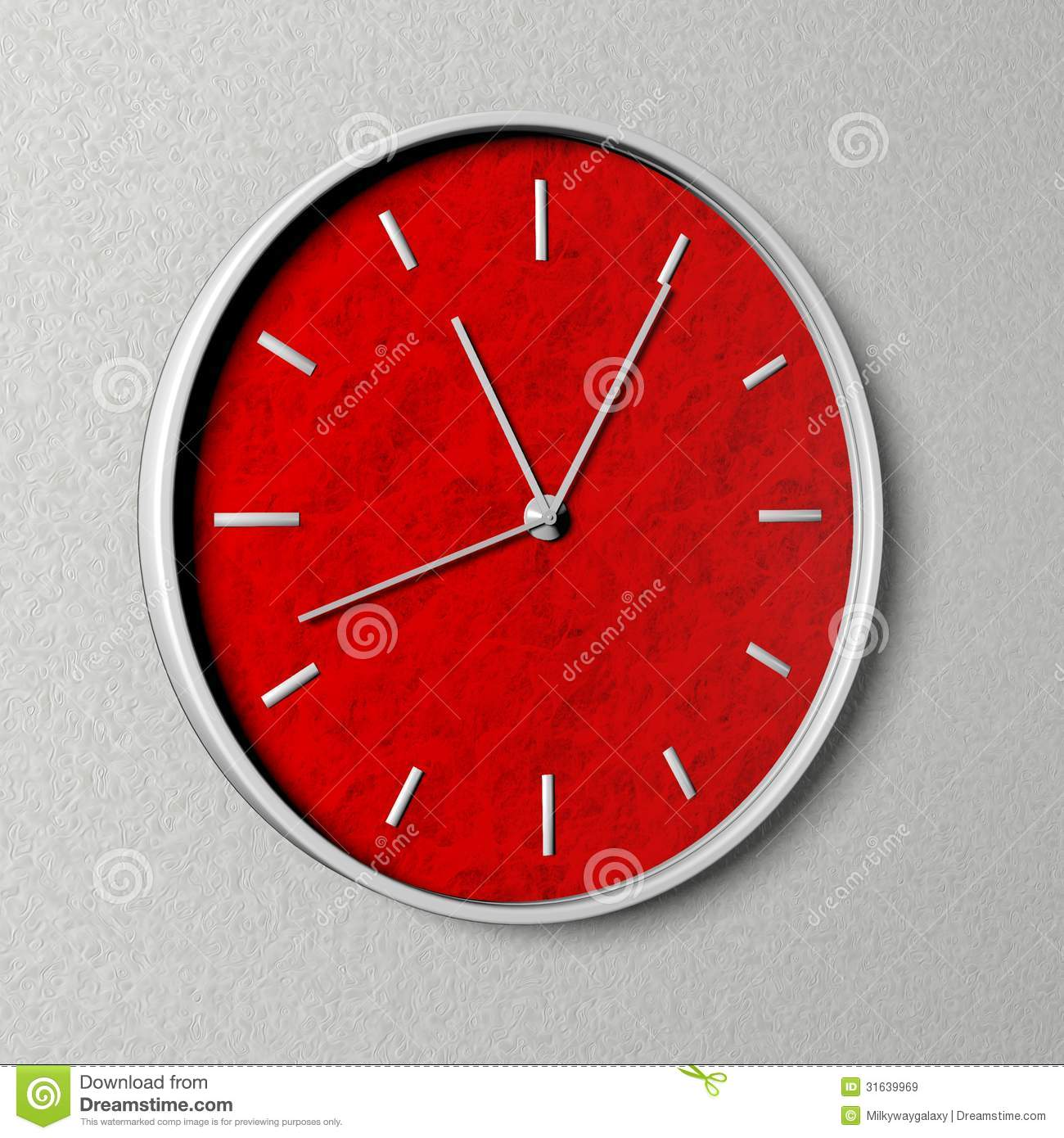 clock with red clock face royalty free stock images