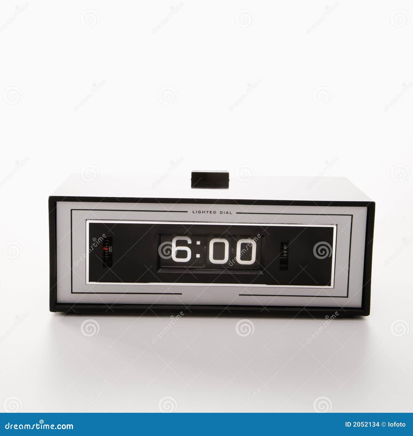 Clock set for 6:00.