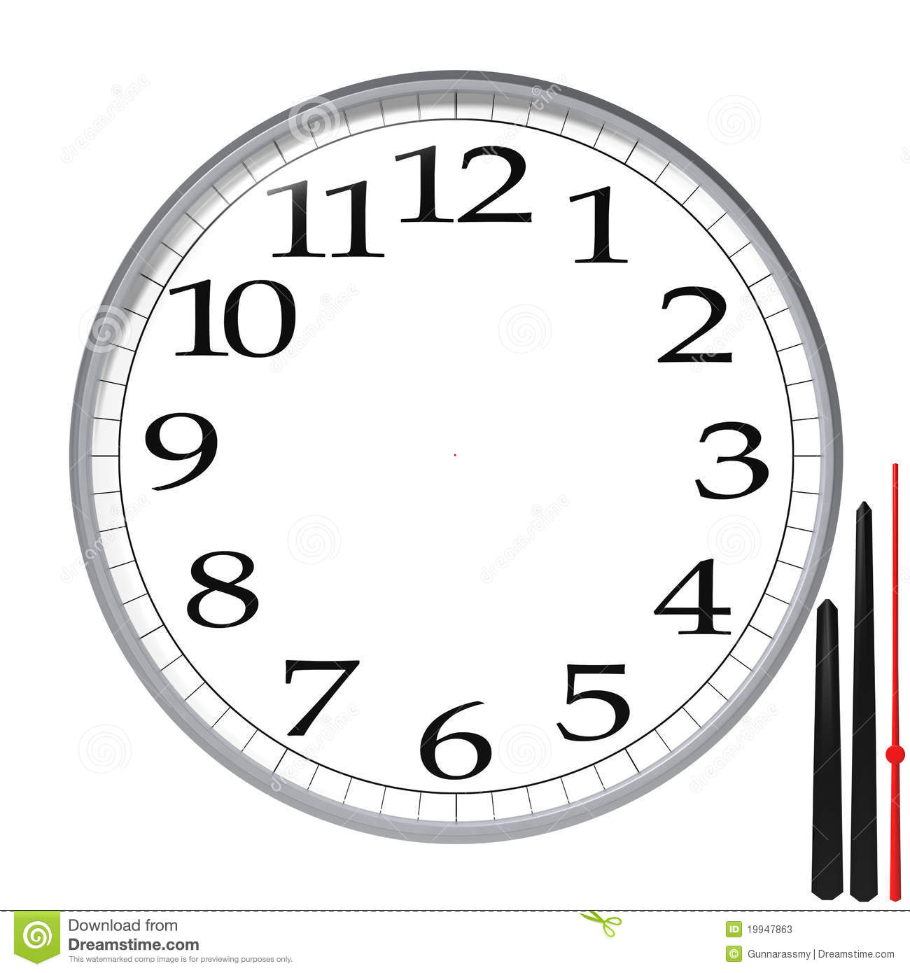 Wall Clock Design Template : Clock template stock photos image