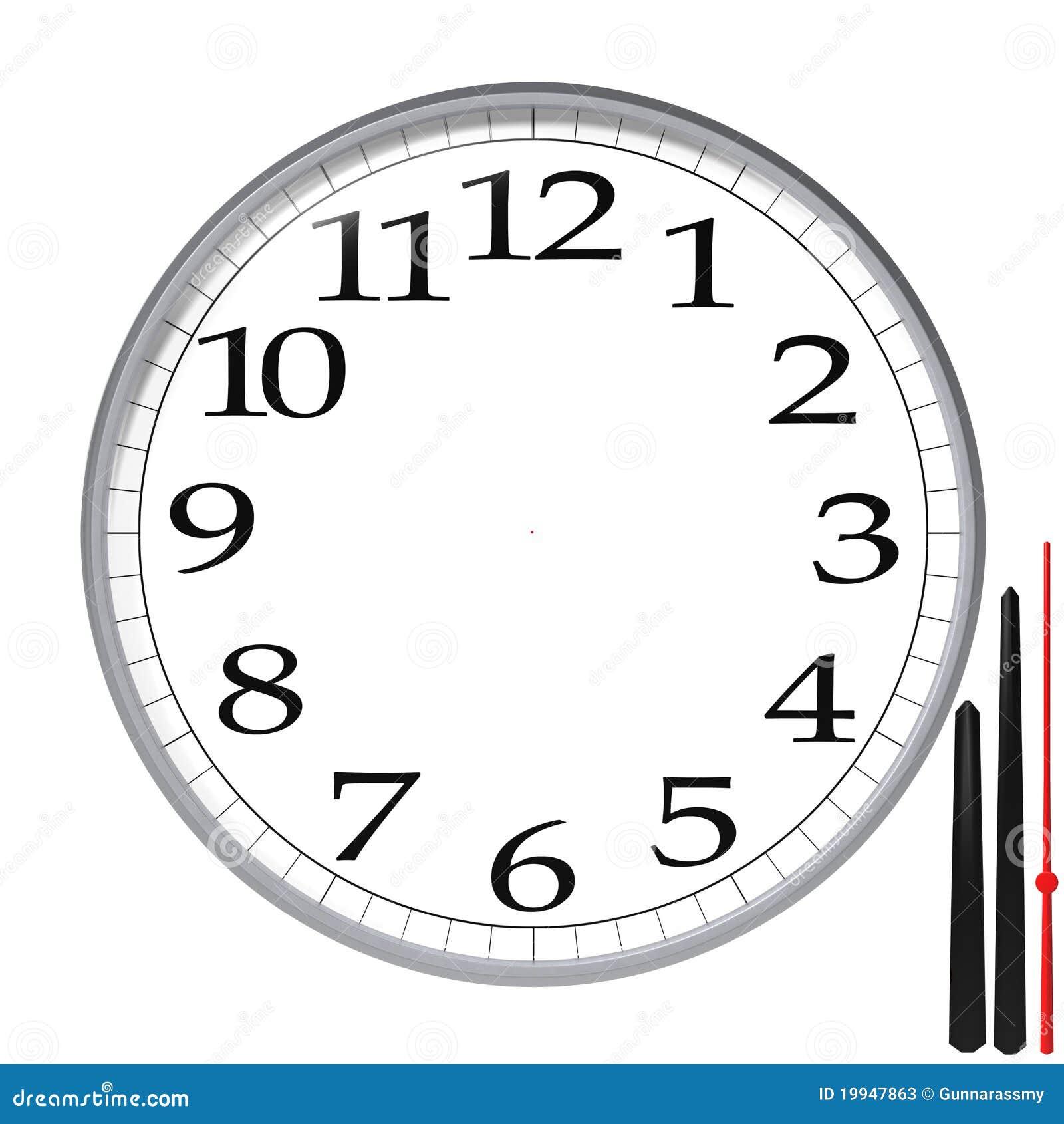 Clock Templates | Clock Template Stock Illustration Illustration Of Numerals 19947863