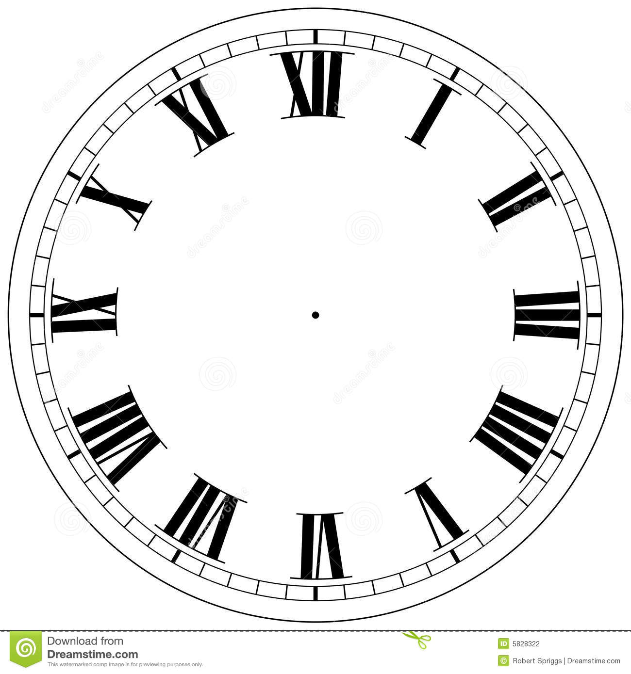 Clock Template Stock Photography Image 5828322