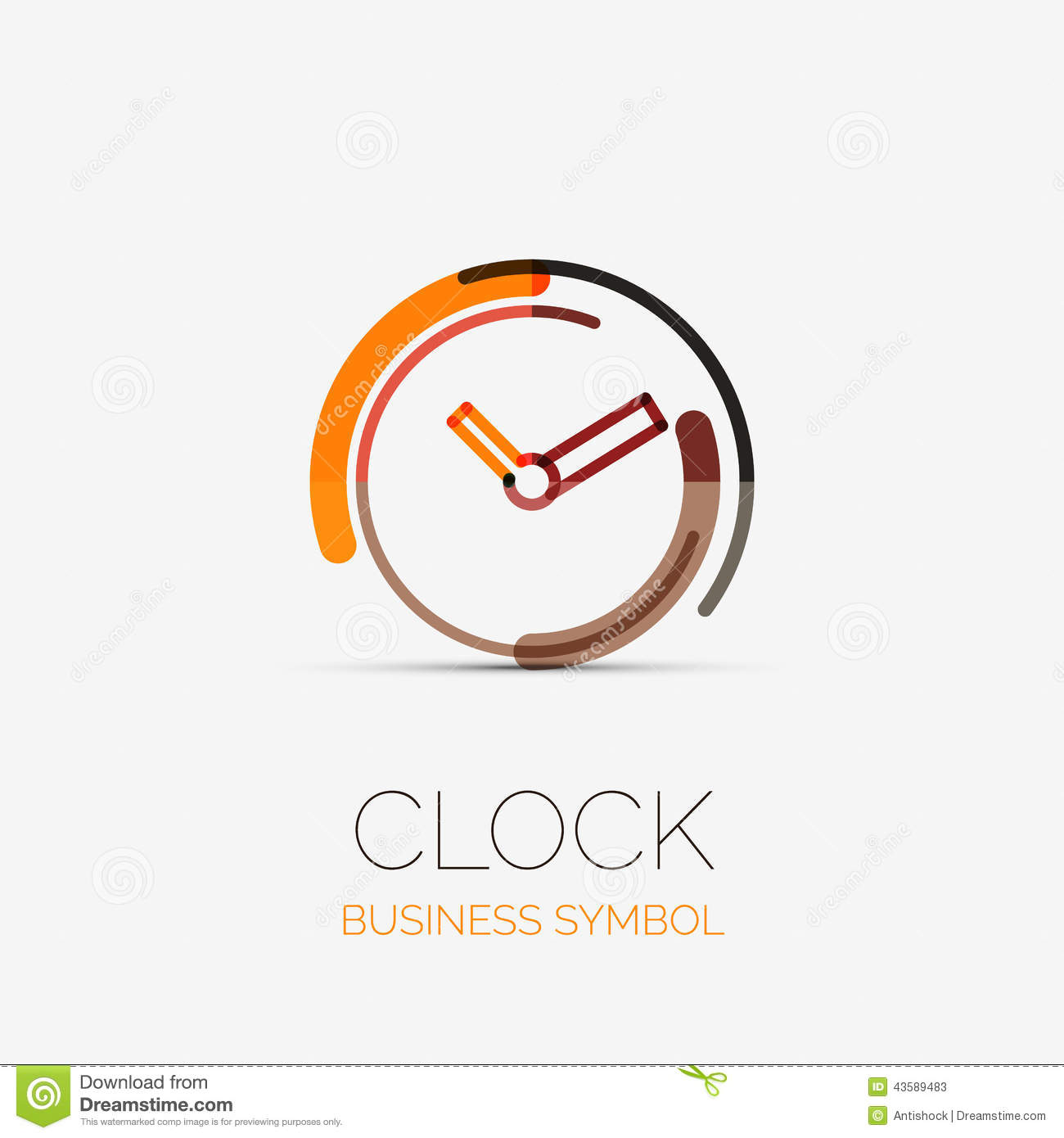 Clock, Time Company Logo, Business Concept Stock Vector - Image ...
