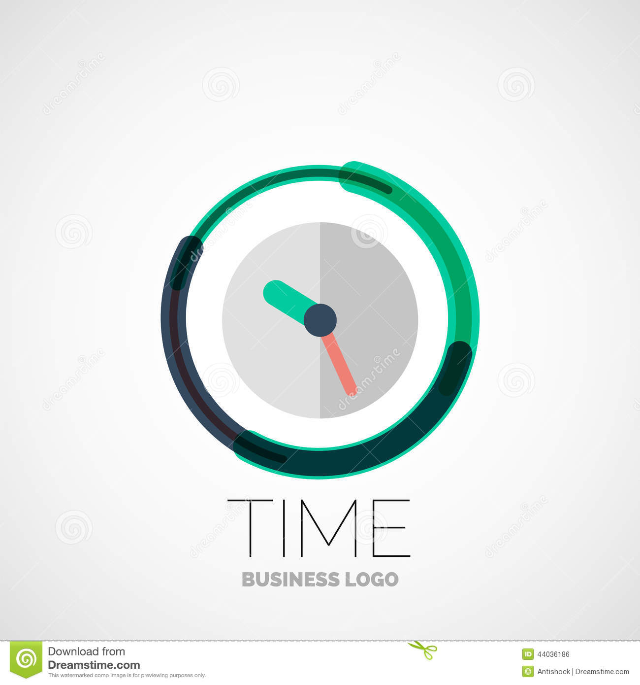Clock time company logo business concept stock vector for Time for business