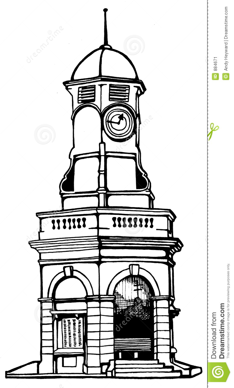 Turmuhr clipart  Clock Tower Stock Image - Image: 884671
