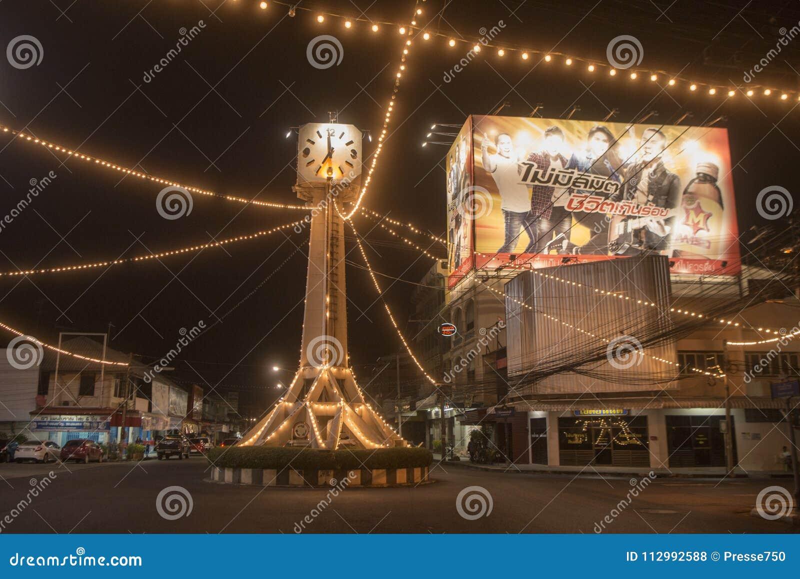 THAILAND BURIRAM CITY CENTRE CLOCK TOWER