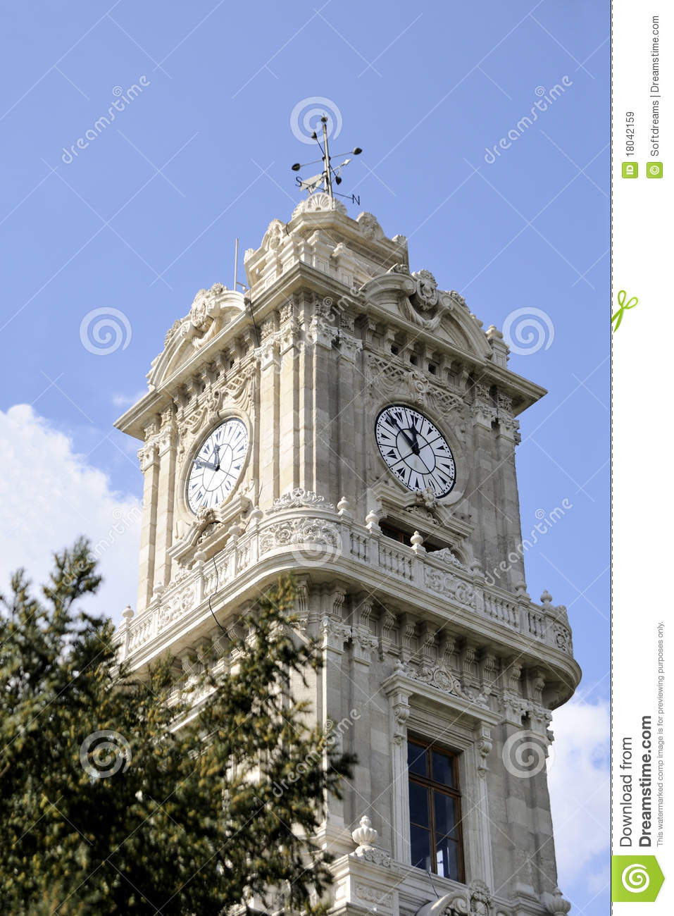 Clock Tower Dolmabahce, Istanbul Royalty Free Stock Images ...